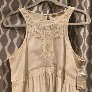 Zara Basic Creme Maxi Dress